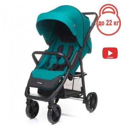 Детская прогулочная коляска 4Baby Moody бирюзовая