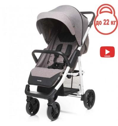 Детская прогулочная коляска 4Baby Moody коричневая