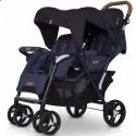 Детская прогулочная коляска для двойни EasyGo Fusion Duo 2019 Denim