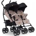 Дитяча прогулянкова коляска для двійні EasyGo Duo Comfort 2019 Latte