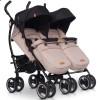Детская прогулочная коляска для двойни EasyGo Duo Comfort 2019 Latte
