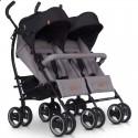 Детская прогулочная коляска для двойни EasyGo Duo Comfort 2019 Grey Fox