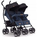 Детская прогулочная коляска для двойни EasyGo Duo Comfort 2019 Denim