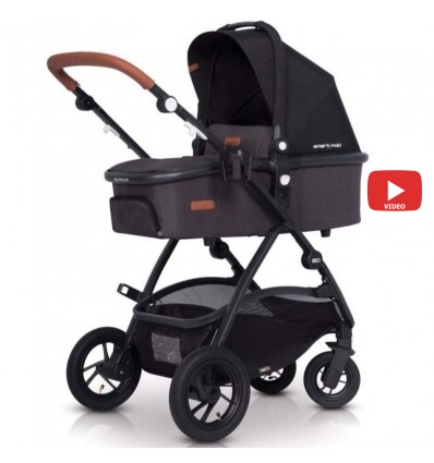 Детская коляска 2 в 1 EasyGo Optimo Air 2019 Anthracite