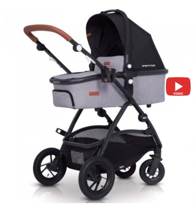 Детская коляска 2 в 1 EasyGo Optimo Air 2019 Grey Fox