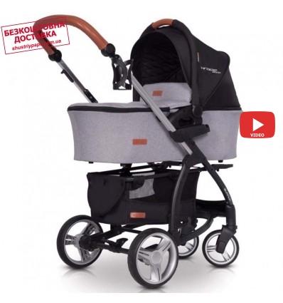 Детская коляска 2 в 1 EasyGo Virage Ecco 2019 Grey Fox