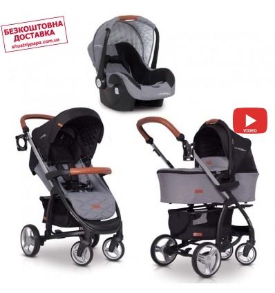 Детская коляска 3 в 1 EasyGo Virage Ecco 2019 Anthracite