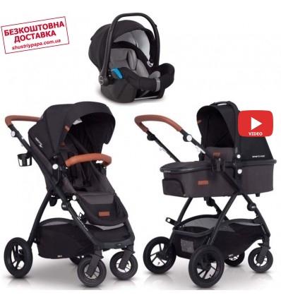 Детская коляска 3 в 1 EasyGo Optimo Air 2019 Anthracite