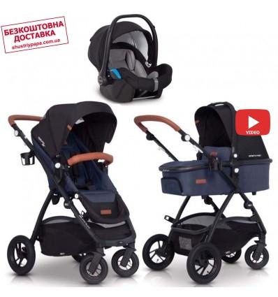 Детская коляска 3 в 1 EasyGo Optimo Air 2019 Denim