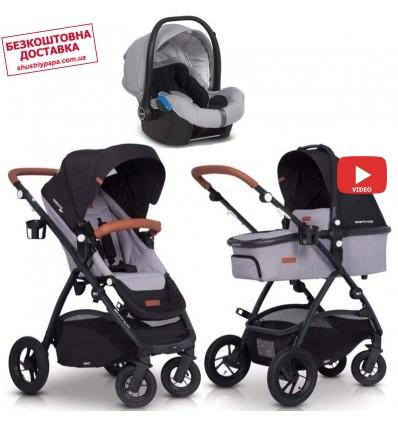 Детская коляска 3 в 1 EasyGo Optimo Air 2019 Grey Fox