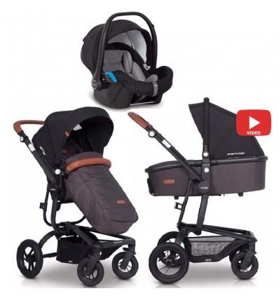 Детская коляска 3 в 1 EasyGo Soul Air 2019 Anthracite