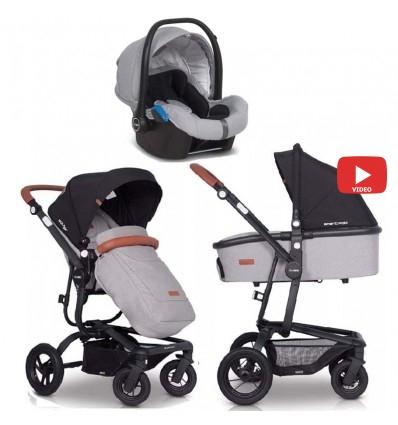 Детская коляска 3 в 1 EasyGo Soul Air 2019 Grey Fox