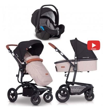 Детская коляска 3 в 1 EasyGo Soul Air 2019 Sand