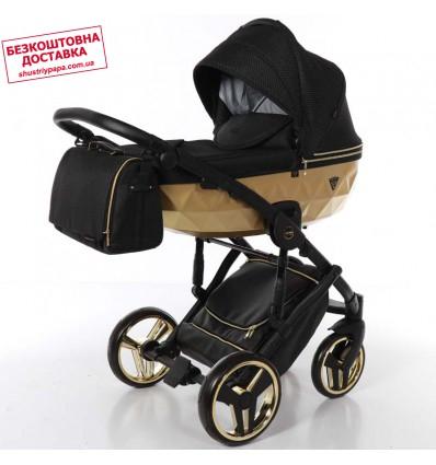 Детская коляска 2 в 1 Tako Junama Diamond Mirror Satin 03 Gold