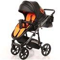 Детская коляска 2 в 1 Tako Neon 02 черная, серебристая рама