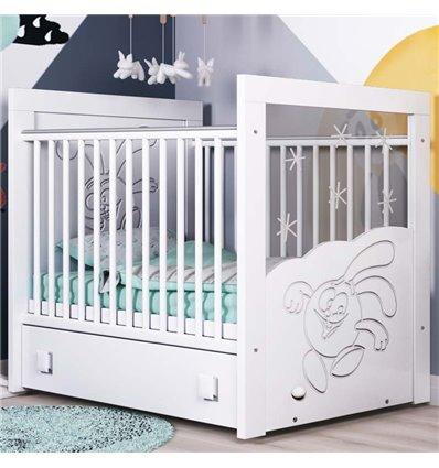 Детская кроватка СидиМ Смешарики с маятником и ящиком