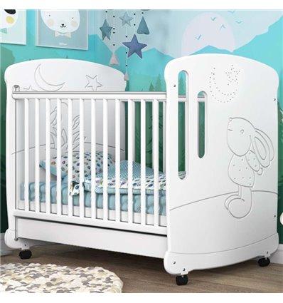 Детская кроватка СидиМ Зайка со стразами и ящиком