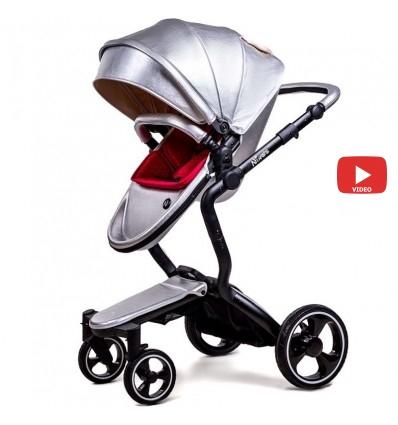Детская коляска 2 в 1 Ninos A88 Silver Pearl