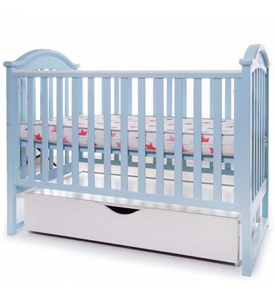 Детская кроватка Twins iLove голубая