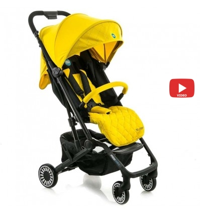 Детская прогулочная коляска MiooBaby Surf желтая