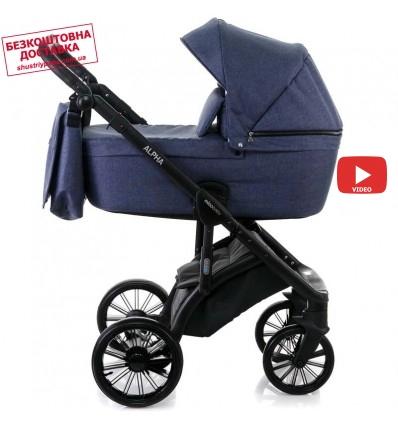 Детская коляска 2 в 1 MiooBaby Alpha New Navy