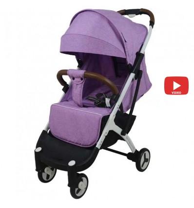 Детская прогулочная коляска Yoya Plus 3 фиолетовая
