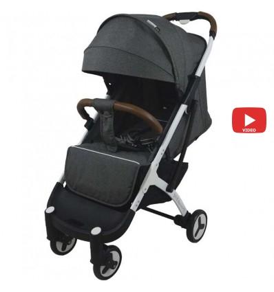 Детская прогулочная коляска Yoya Plus 3 темно серая