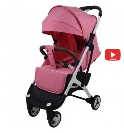 Детская прогулочная коляска Yoya Plus 3 розовая