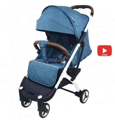 Детская прогулочная коляска Yoya Plus 3 светло синяя