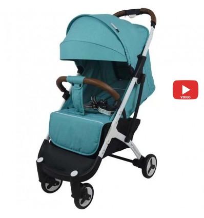 Детская прогулочная коляска Yoya Plus 3 бирюзовая