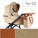 Детская коляска 2 в 1 Adbor Fortte For-02