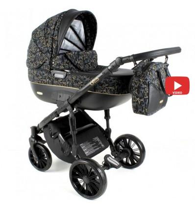 Детская коляска 2 в 1 Adbor Ottis Black Ob-03