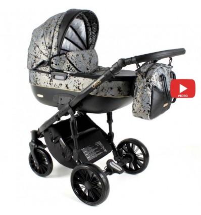 Детская коляска 2 в 1 Adbor Ottis Black Ob-06