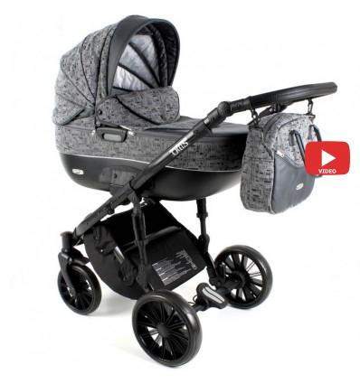 Детская коляска 2 в 1 Adbor Ottis Black Ob-07