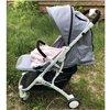 Детская прогулочная коляска BeneBaby D200 синяя на белой раме