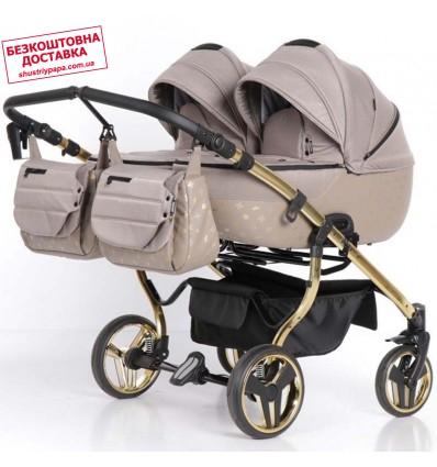 Универсальная коляска для двойни Tako Laret Imperial Duo 02 коричневая