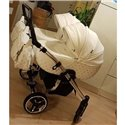 Универсальная коляска для двойни Tako Laret Imperial Duo 01 белая