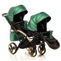 Універсальна коляска для двійні Junama Fluo Duo Slim зелена