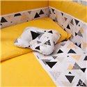 Детский постельный комплект Twins Premium Modern 9 эл. P-105 Эскимо желтый