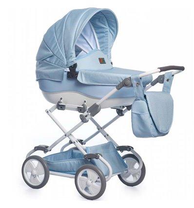 Коляска для куклы Broco mini 01 голубая