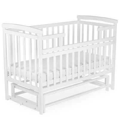 Кроватка Дитячий сон с маятником, цвет белая