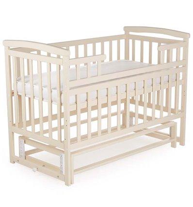 Кроватка Дитячий сон с маятником, цвет слоновая кость