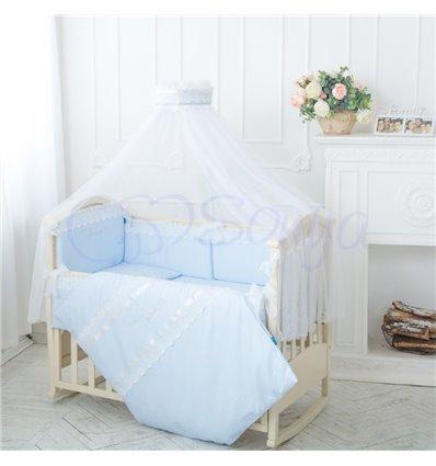 Детский постельный комплект Маленькая Соня Принц голубой