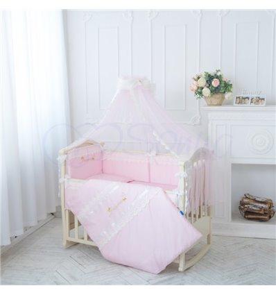 Детский постельный комплект Маленькая Соня Принцесса розовый