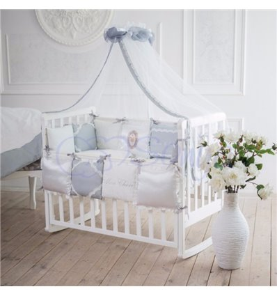 Детский постельный комплект Маленькая Соня Mon cheri серый