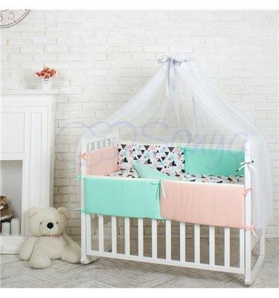 Детский постельный комплект Маленькая Соня Comfort треугольники Лофт