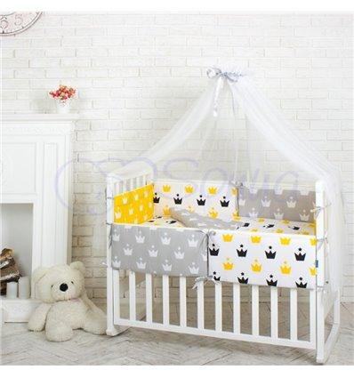 Детский постельный комплект Маленькая Соня Comfort Желтые короны