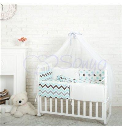 Детский постельный комплект Маленькая Соня Comfort Пряники голубые