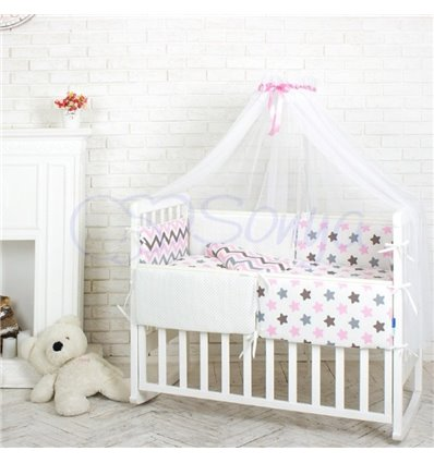 Детский постельный комплект Маленькая Соня Comfort Пряники розовые