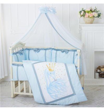 Детский постельный комплект Маленькая Соня Flamingo голубой